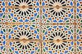 Portuguese mosaic azulejo — Stock Photo