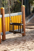 Empty playground swings — Stock Photo