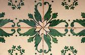 Green portuguese mosaic — Stock Photo