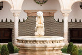 Fountain in Museum Condes de Castro Guimaraesh — Stock Photo