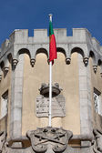 Portuguese flag in Pena palace, Sintra, Portugal — Stock Photo