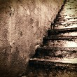 Grunge stairs, underground grunge background — Stock Photo