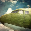 Grunge old military plane close up — Stock Photo