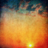 Red sky and clouds — Stock Photo