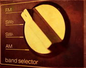 Radio band selector, close up — Stock Photo