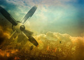 Aviation, grunge background — Stok fotoğraf