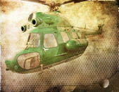 Old helicopter — 图库照片