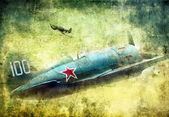 Old military plane — Stock Photo