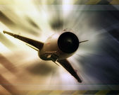 Abstract military fighter jet — Stock Photo