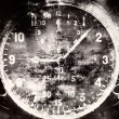 Stock Photo: Vintage military airplane clock