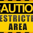 Stock Photo: Caution sign
