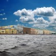 Kind from the river to St.-Petersburg, Russia - Stock Photo