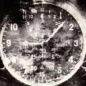 Vintage military airplane clock — Stock Photo