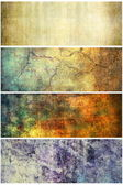 Grunge banners set — Stock Photo