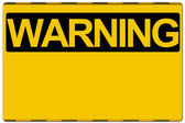 Warning sign — Stock Photo