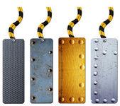 Kovové značky kolekce — Stock fotografie