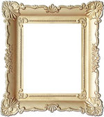 Vintage wooden picture frame — Stock Photo