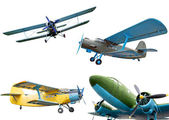 Retro planes — Stock Photo