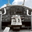 Cockpit of the old plane — Stock Photo