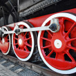 Stock Photo: Steam train wheels