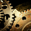 Mechanical gears close up — Stock Photo
