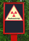 Radioactivity board — Stock Photo