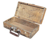 Wooden suitcase — Stock Photo