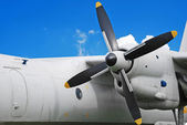 Military turboprop aircraft — Stock Photo