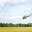 Flying helicopter — Stockfoto