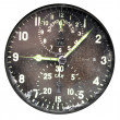 Stock Photo: Vintage airplane clock