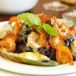 Seafood pasta — Stock Photo
