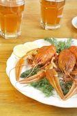 Boiled crawfish — Stock Photo