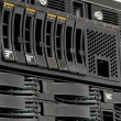 Servers stack with hard drives in datacenter — Stock Photo #7508203