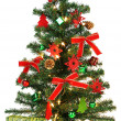 Christmas Tree with decorations and gifts — Stock Photo