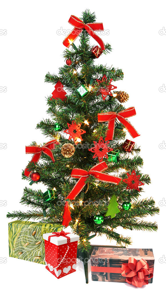 Christmas Tree with decorations and gifts — Stock Photo #7959830