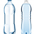 Blue bottles with water isolated on the white background with cl — Stock Photo