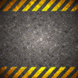 Stock Photo: Metal background with caution tape