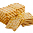 Crackers isolated on white background — Stock Photo #7961237