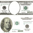 Stock Photo: Set of original detail dollars isolated on white background