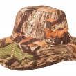 Military camouflage hat desert — Stock Photo