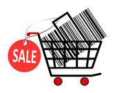 Shopping cart icon illustration — Stock Photo