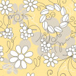 Seamless herbal pattern - Stock Vector