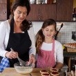 Mother and daughter baking at home — Stock Photo #7900452
