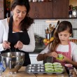 Mother and daughter baking at home — Stock Photo #7900469
