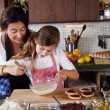 Mother and daughter baking at home — Stock Photo #7900470