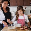 Mother and daughter baking at home — Stock Photo #7900472