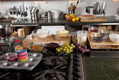 Kitchen ready to be used — Stock Photo