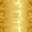Royalty-Free Stock Vector Image: Seamless gold design pattern