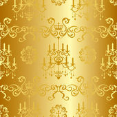 Seamless gold design pattern — Stock Vector