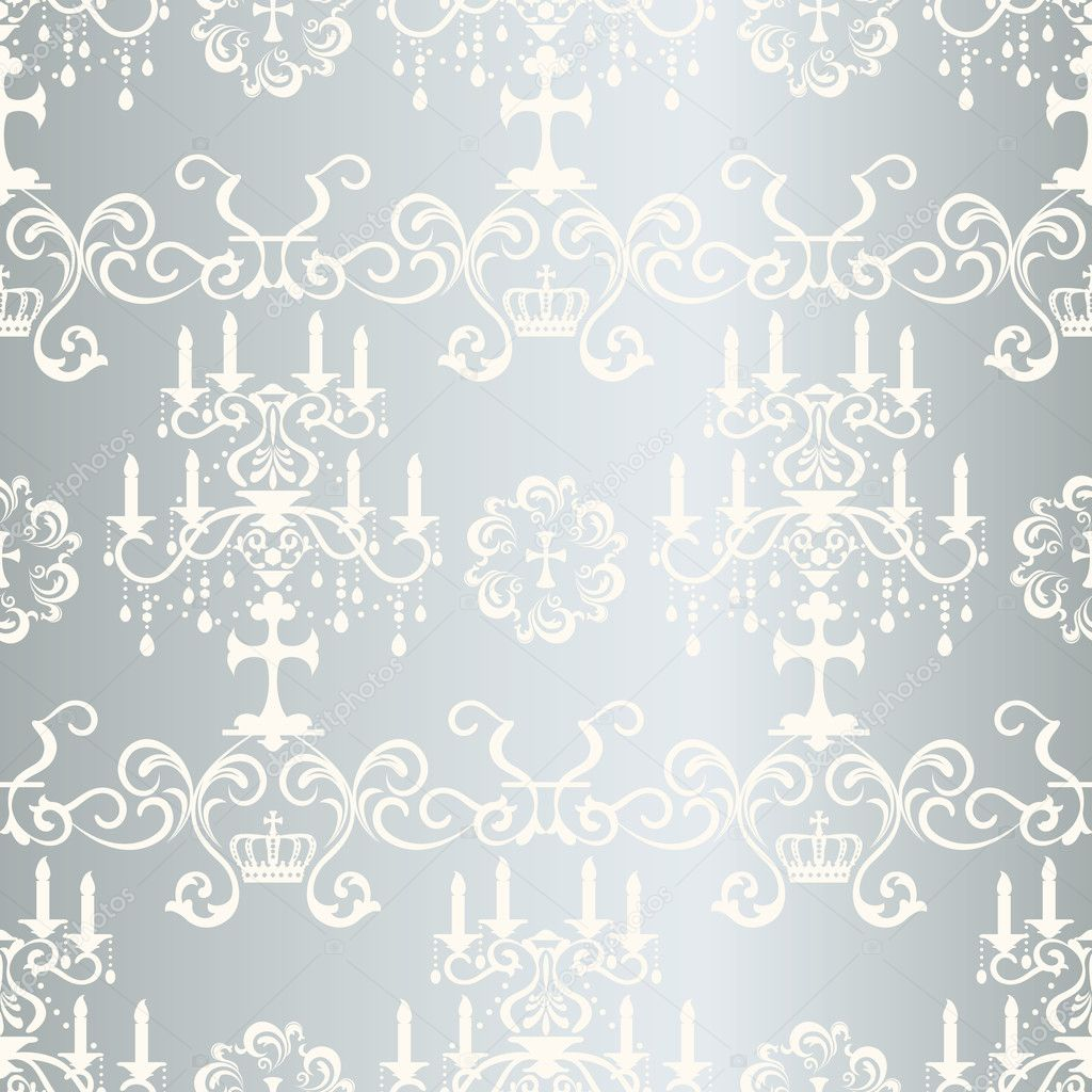Seamless silver design pattern — Stock Vector © yo-ichi #6896863